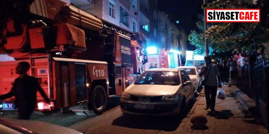 Küçükçekmece'de çıkan yangın mahalleyi sokağa döktü!