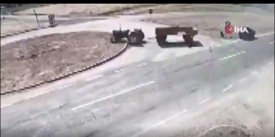 Afyon'da 2 kişinin öldüğü feci kaza kameralarda
