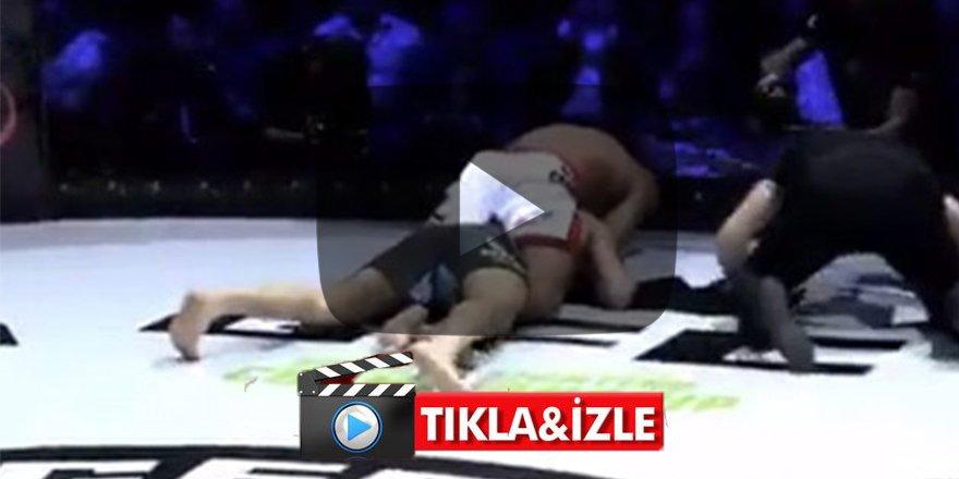 Ermeni dövüşçü Türk rakibini boğarak öldürmeye çalıştı!