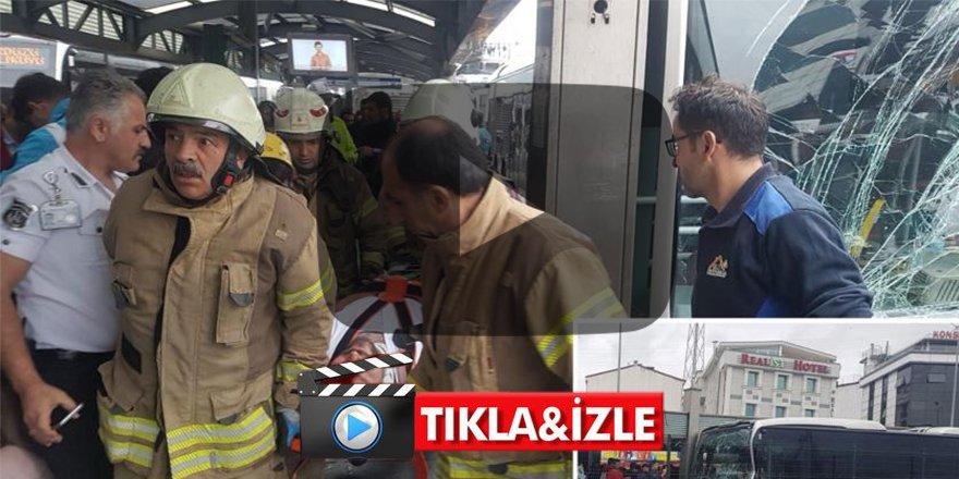 Son dakika! İstanbul'da Metrobüs kazası: Yaralılar var
