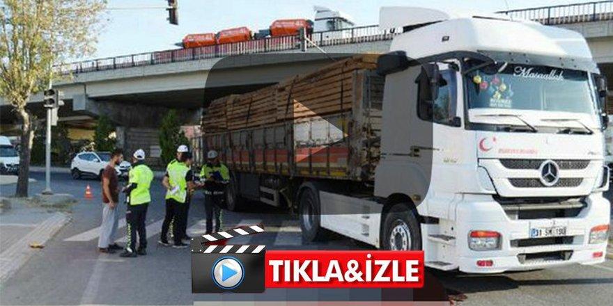 Aksaray'da korkunç kaza: Simitçinin bacağı koptu
