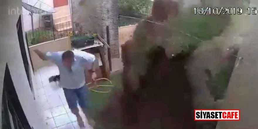 Böcek öldüreceğim derken evi havaya uçurdu!