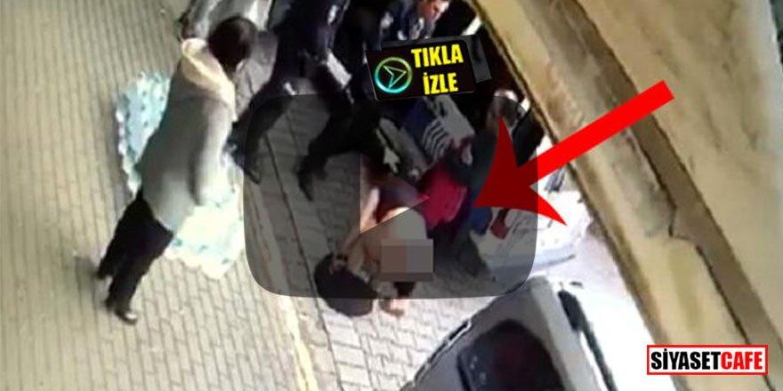 Hırsızlıkla suçlanan kadın, sokak ortasında çırılçıplak soyundu
