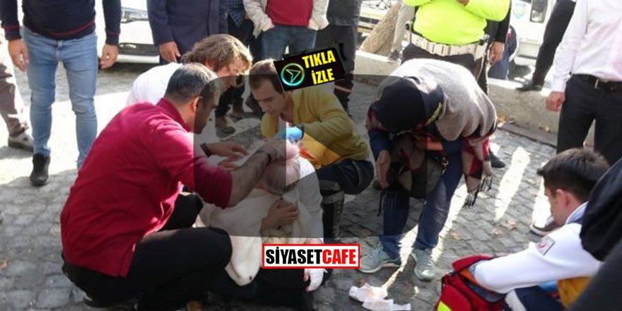 Beyoğlu'nda dehşet anları! Turiste inşaat demiri sapladı