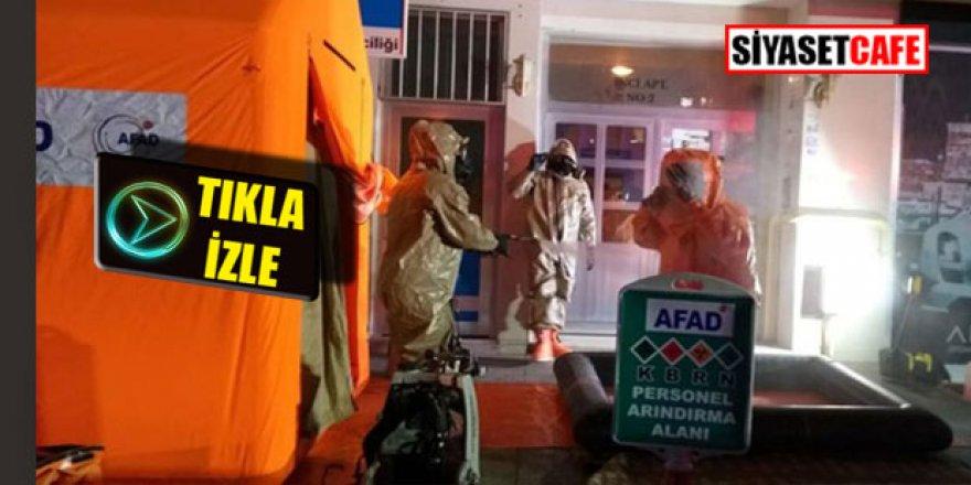 Aksaray'da kimyasal alarm, Tahliye edildi Karantina başladı