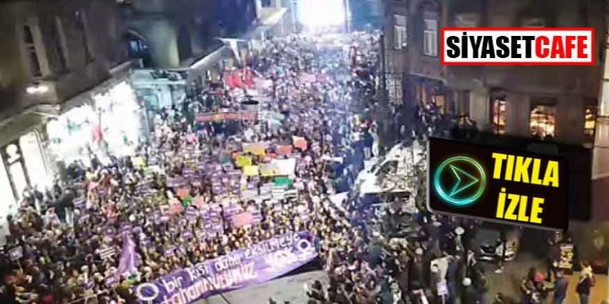 Son Dakika! Taksim'deki kadın yürüyüşüne gazlı müdahale