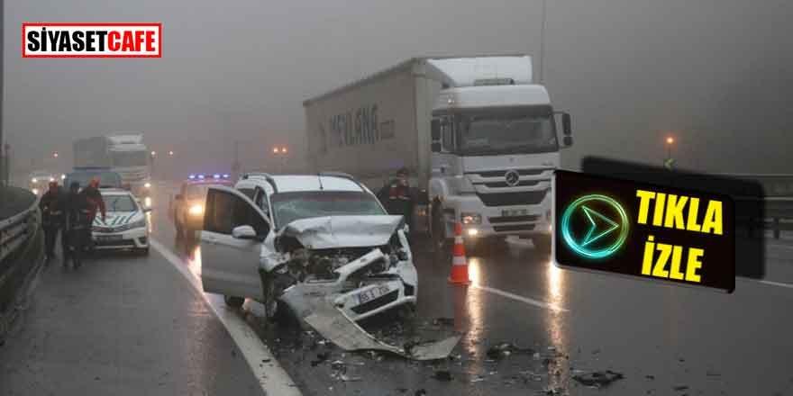 TEM Otoyolu'nda feci kaza: Çok sayıda yaralı var