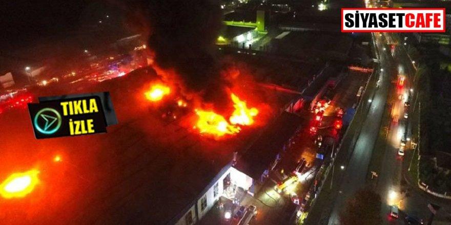 Düzce'de büyük yangın, dev fabrika yanıyor!