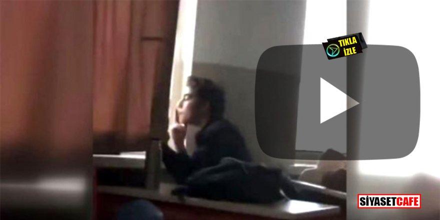 Ankara'da lisede skandal olay! Öğretmen ders anlattı, öğrenci sigara içti