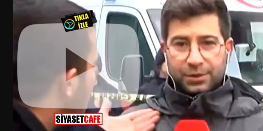 Konya'da çöken bina haberini yapan muhabir dayak yedi