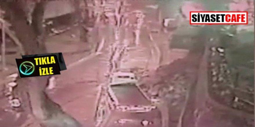 Sarıyer'de istinat duvarı çöktü: Kameralar her şeyi kaydetti!
