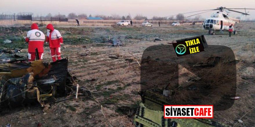 İran'da 180 kişiyi taşıyan yolcu uçağı düştü!