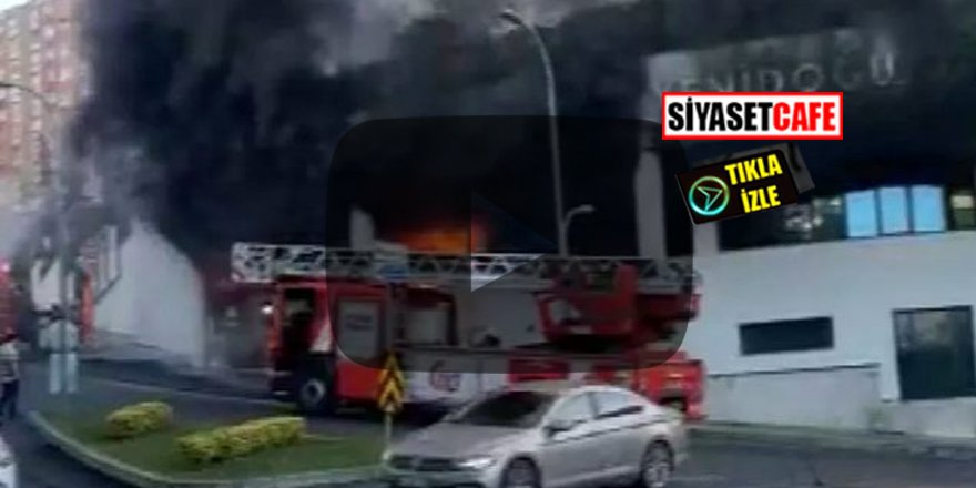 Başakşehir'de yangın paniği! Okulun alt katı yandı