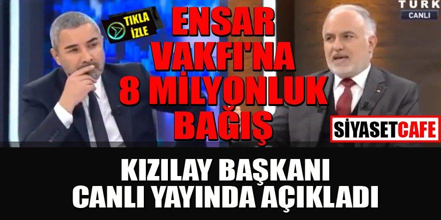 Kızılay Başkanı canlı yayında iddiaları cevapladı