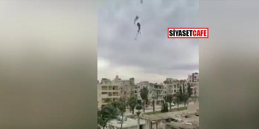 Son dakika: İdlib'de helikopter vuruldu