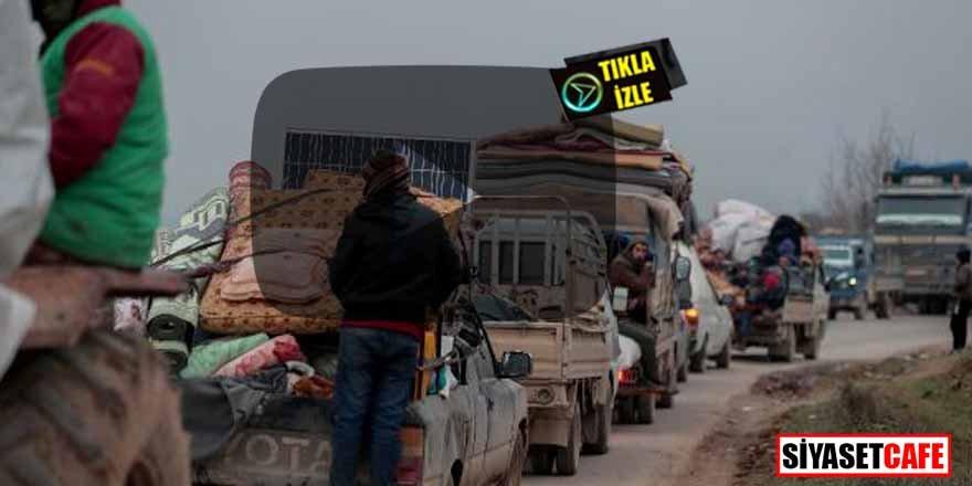 İdlib'ten kaçanlar akın akın Türkiye sınırına geliyor!