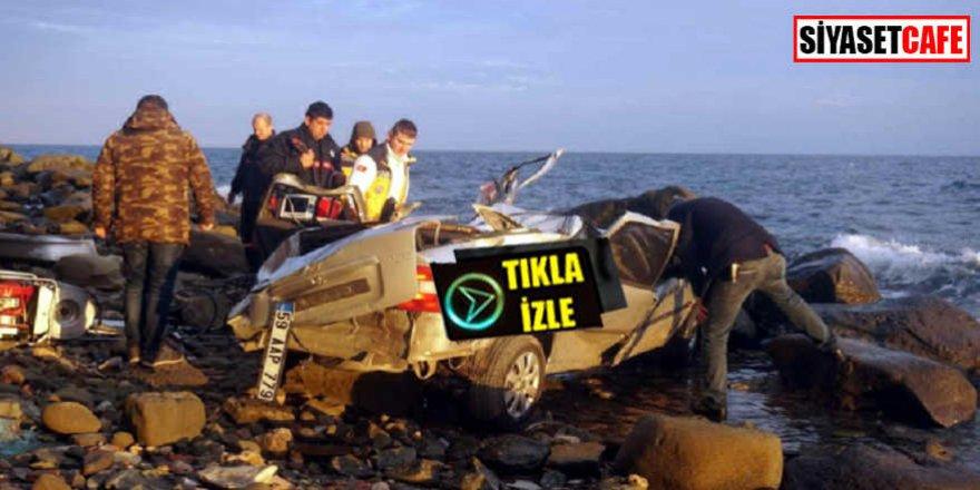 Tekirdağ'da korkunç intihar: Otomobilini uçuruma sürdü