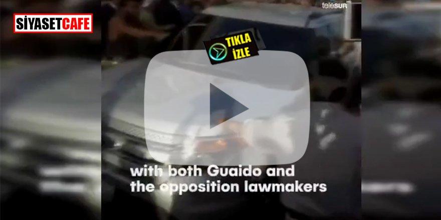 Venezuela halkı Guaido'yu 'hain' diyerek havalimanında kovaladı