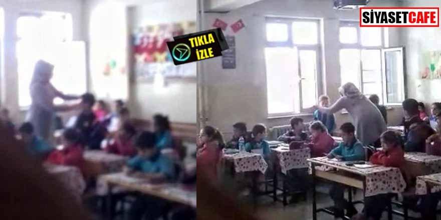 Skandal görüntüler! İlkokul öğrencilerine şiddet kamerada