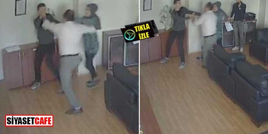 Müdür odasındaki dayak kameralara yansıdı! Anne şokta