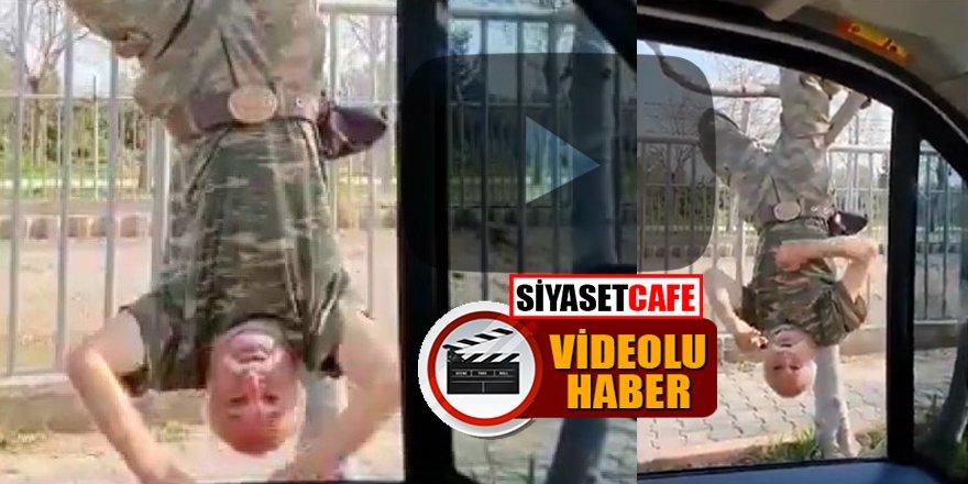 #Evdekal çağrısına uymayan komando dede polise yakalandı