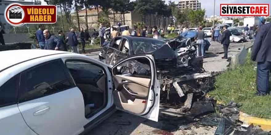 Hatay'da feci kaza! Olay yerinden ilk görüntüler