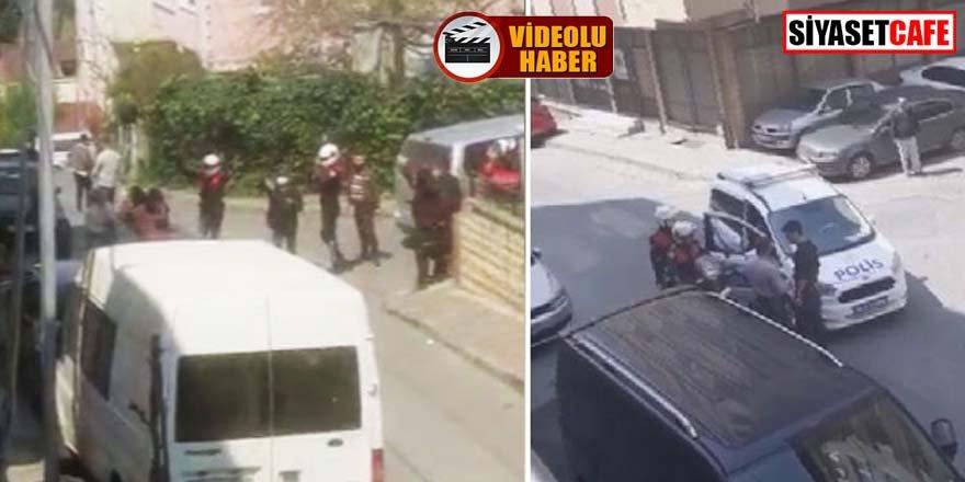 İstanbul'da yasağa uymayan grubu uyaran polise saldırdılar