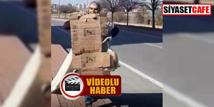 Kayseri'den güldüren görüntüler: Böyle kamuflaj görülmedi!