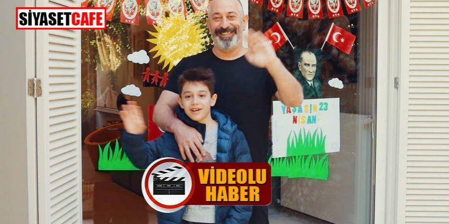 Cem Yılmaz ve oğlu Opet reklamı için kamera karşısına geçti