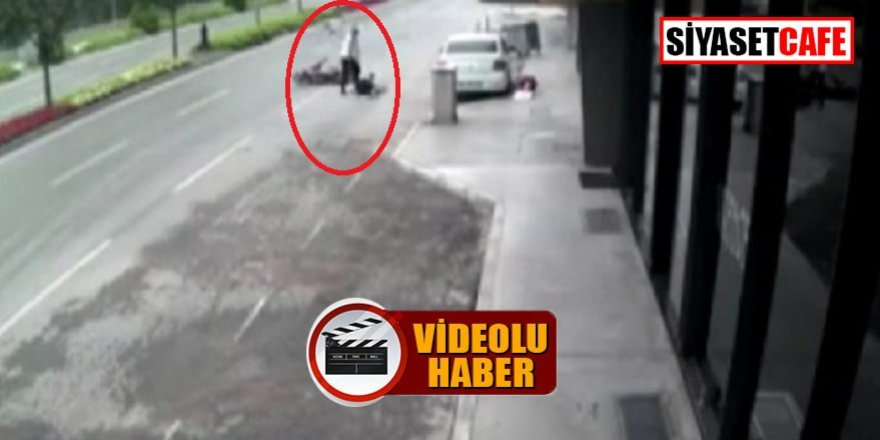 Motosiklet hırsızı dayaktan kaçamadı!