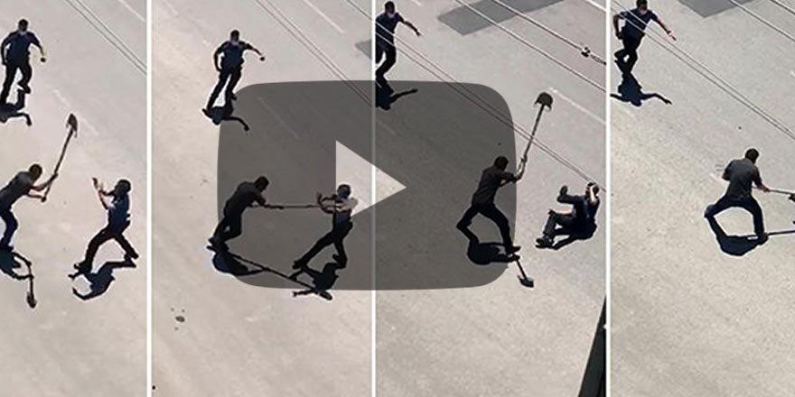Polisin başına kürekle vuran şahıs yakalandı