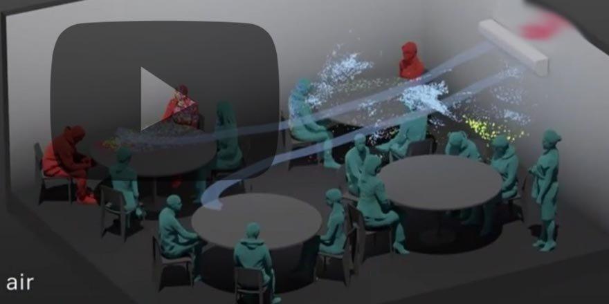 Bilim insanları koronavirüsün nasıl yayıldığını canlandırdı! İşte o görüntüler