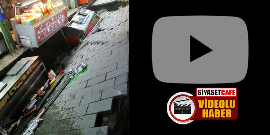 Ortaköy'de kumpircilerin olduğu sokak çöktü! Etraf savaş alanına döndü