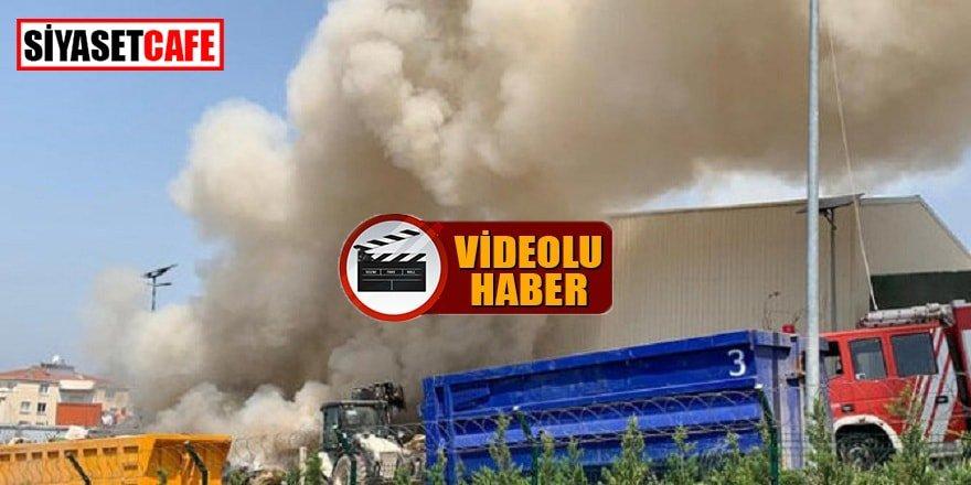 Maltepe'de atık tesisi yanıyor