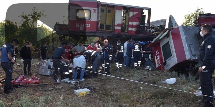 Malatya'da iki yük treni kafa kafaya çarpıştı: Ölü ve yaralılar var