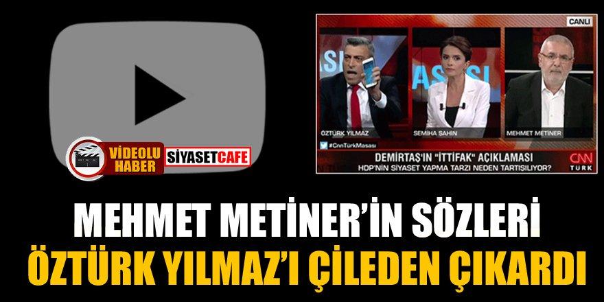 Canlı yayında olay sözler! Mehmet Metiner'in sözleri Öztürk Yılmaz'ı çileden çıkardı