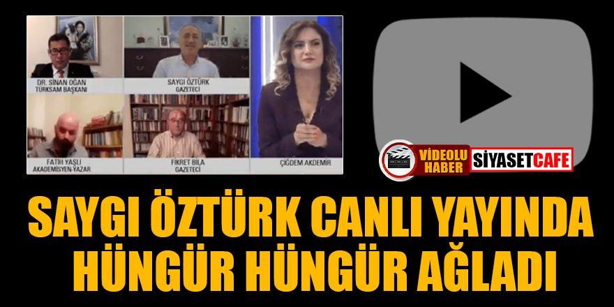Bakan Soylu'nun 'Namus düşmanı' diye tepki gösterdiği Saygı Öztürk canlı yayında ağladı