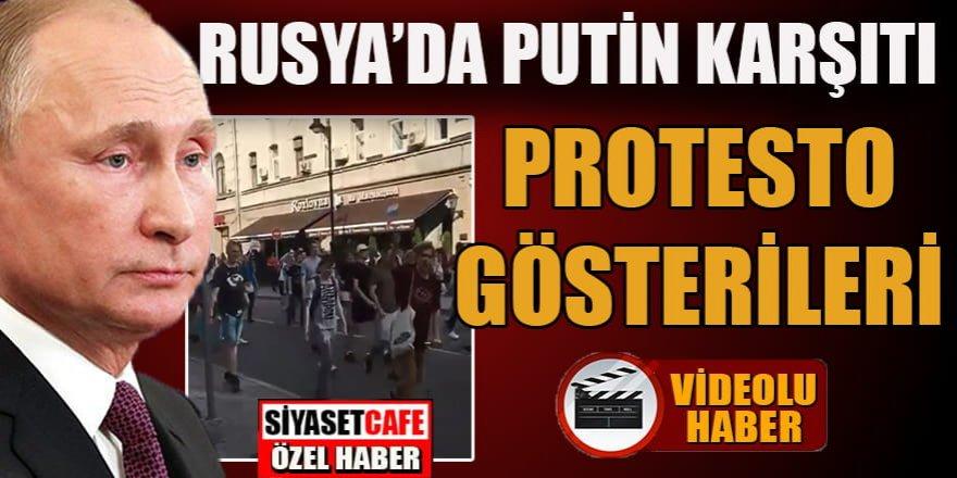 Rusya'da Putin karşıtı protesto gösterileri