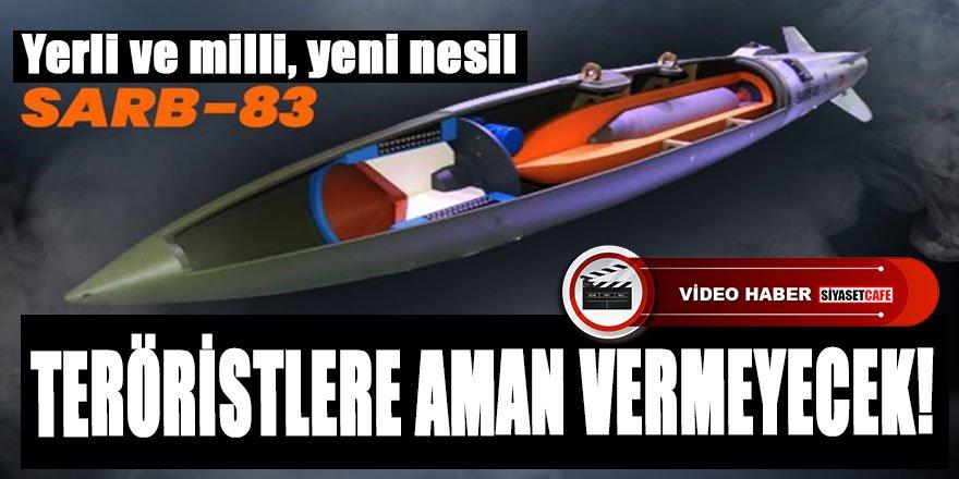 Teröristler aman vermeyecek, Türkiye'nin yeni nesil savunma silahı beton delici mühimmatı SARB-83
