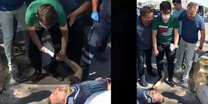 Antalya'da oğlunu YKS'ye yetiştirmeye çalışan baba kaza geçirdi! Öğrenciyi sınava polis götürdü