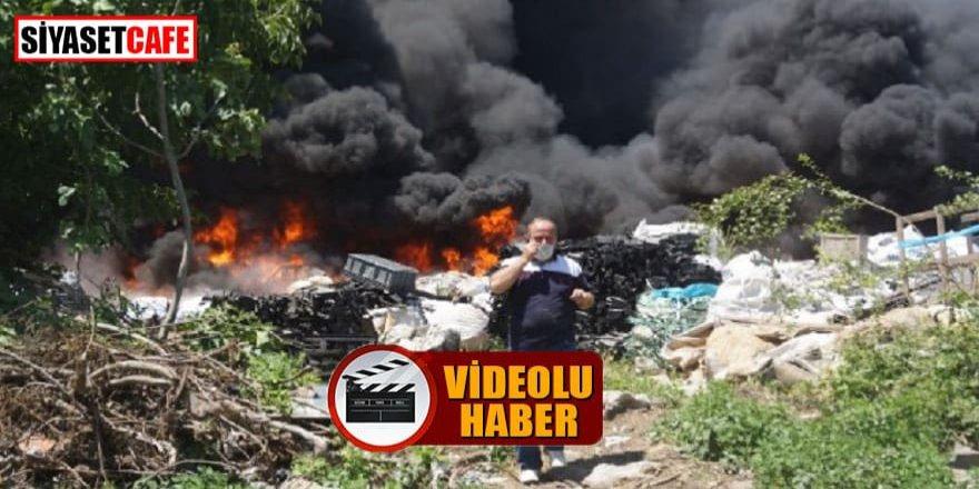 Bursa'da atık tesisinde yangın: 10 kişi hastanede!