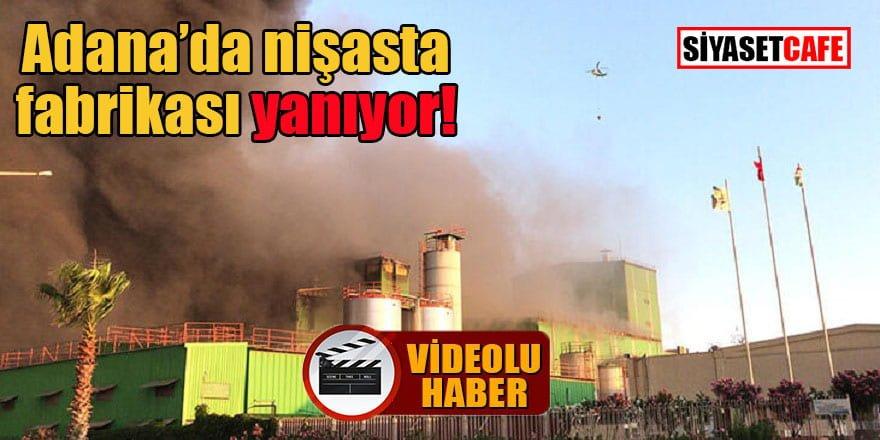 Adana'da nişasta fabrikası yanıyor!