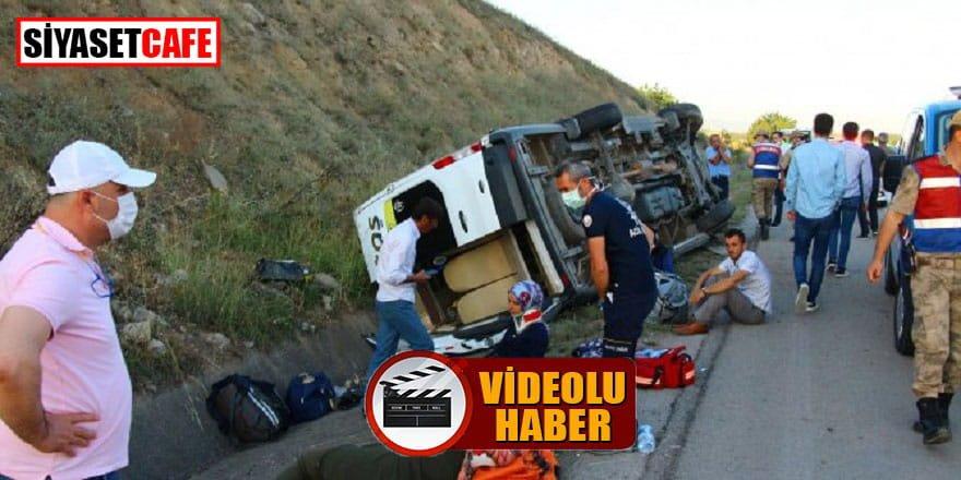 Tokat'ta yolcu minibüsü kaza yaptı: 16 yaralı!