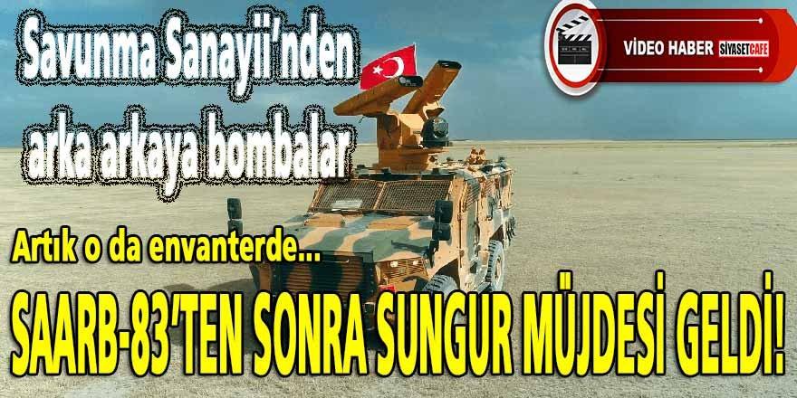 Savunma Sanayii'nden SAARB-8'den sonra Yerli MANPADS SUNGUR müjdesi geldi..Artık o da envanterde!
