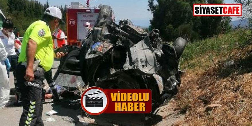 Aydın'da kafa kafaya kaza: 1 ölü, 2 yaralı!