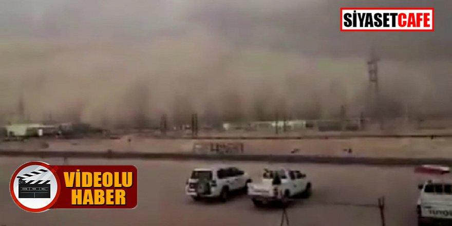 Umman'daki kum fırtınasında göz gözü görmedi