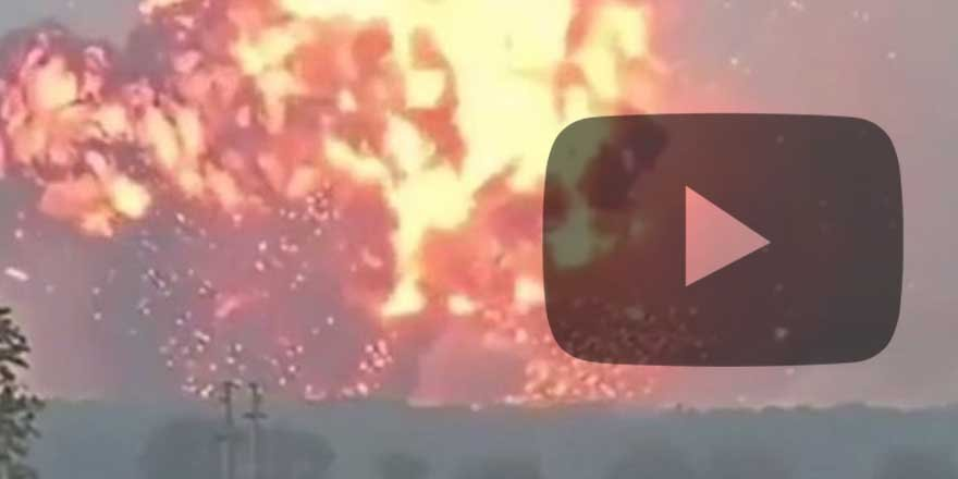 Havai fişek fabrikasının patlama anı kameralara işte böyle yansıdı!