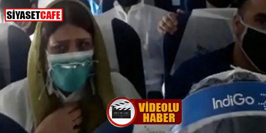 Uçakta korku dolu anlar