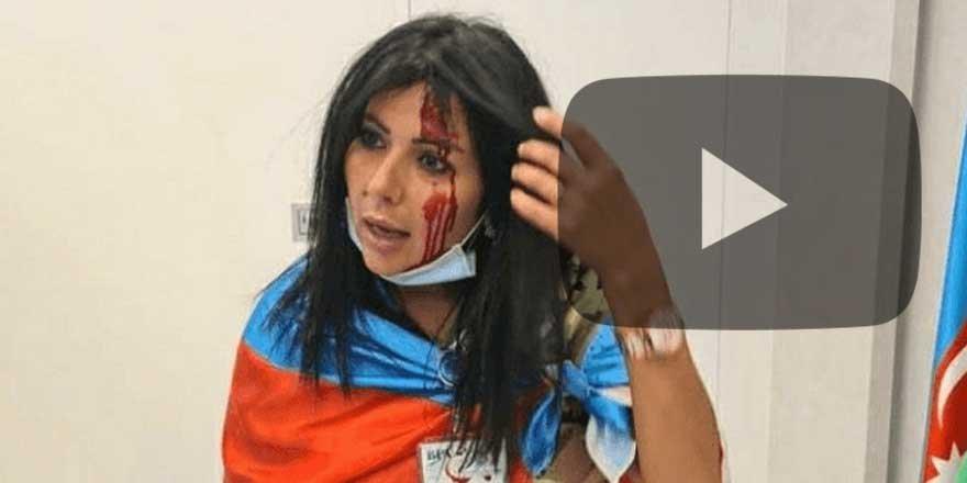 Ermeni çeteler Brüksel'de Azerbaycanlılara taşlarla saldırdı