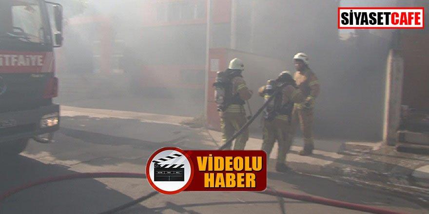 Pendik'te yangın paniği, o anlar kamerada!